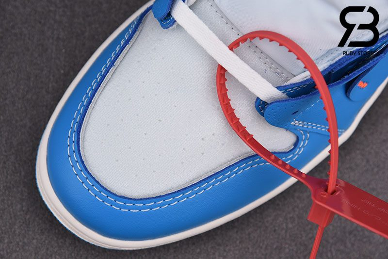 giày nike air jordan 1 off white university blue siêu cấp