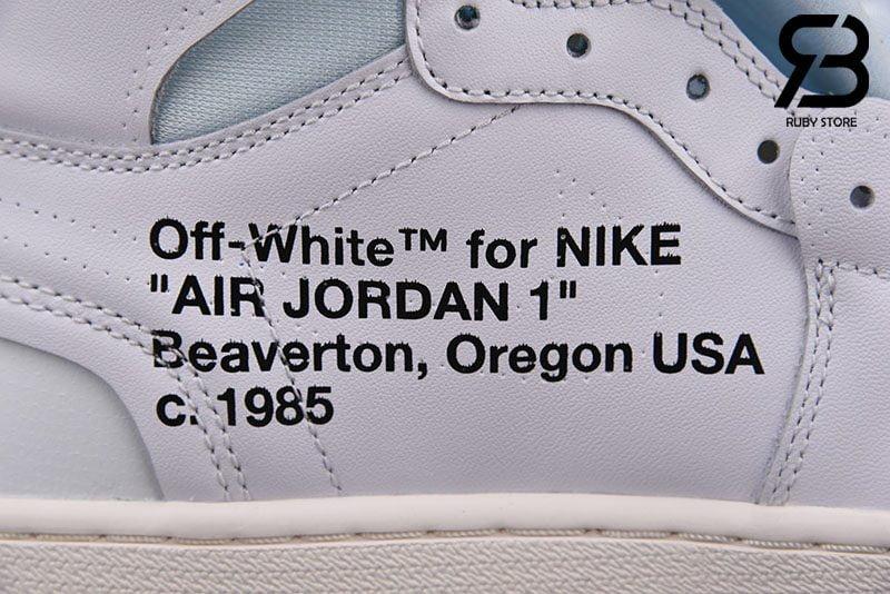 giày nike air jordan 1 off-white white siêu cấp