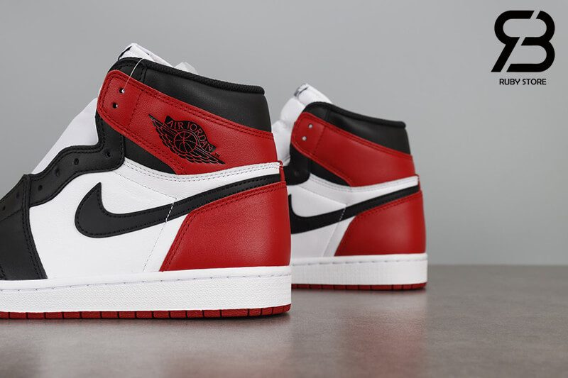 giày nike air jordan 1 high og retro black toe siêu cấp