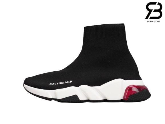 Giày Balenciaga Speed Clear Sole Đỏ Đế Trắng Siêu Cấp