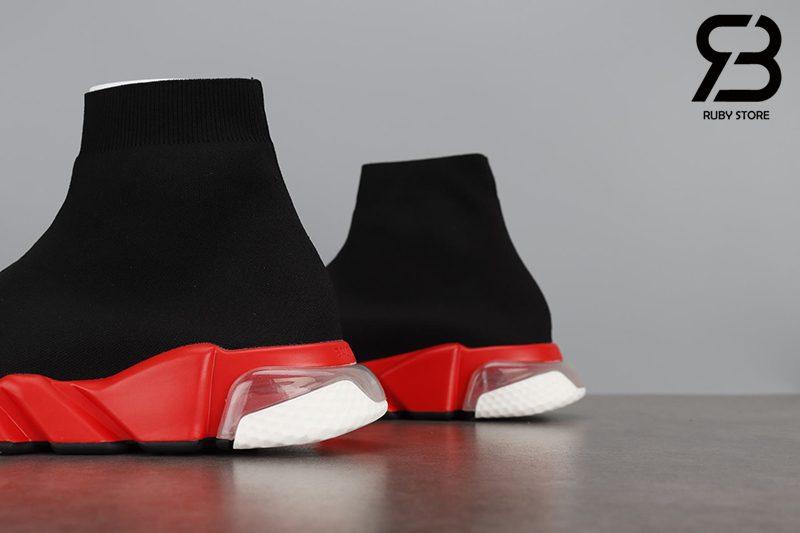 Giày Balenciaga Speed Clear Sole Trắng Đế Đỏ Siêu Cấp
