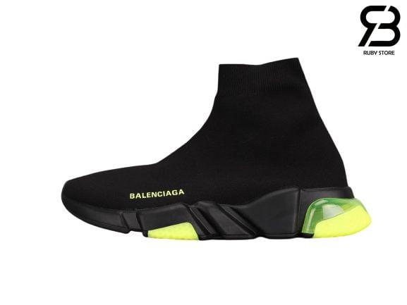 Giày Balenciaga Speed Clear Sole Xanh Đế Xanh Lá Siêu Cấp