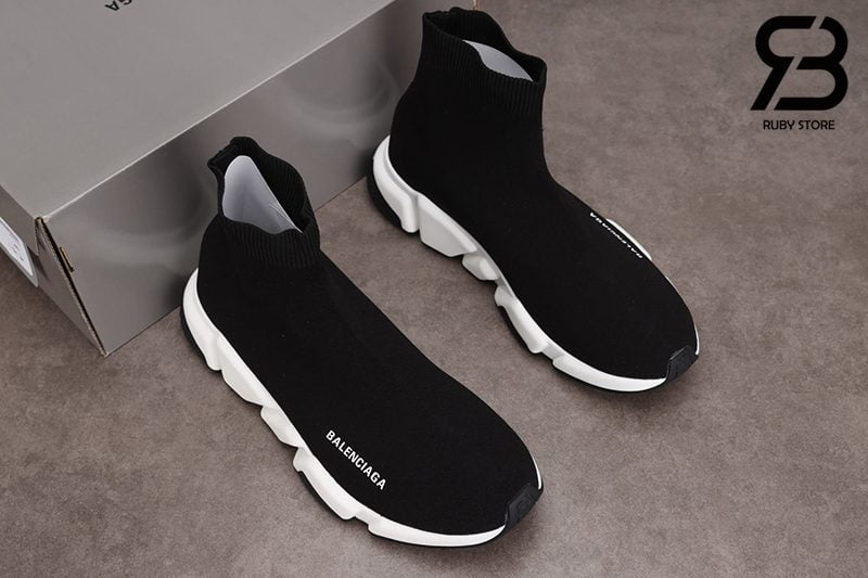 Giày Balenciaga Speed Trainer Đế Trắng Đen Siêu Cấp