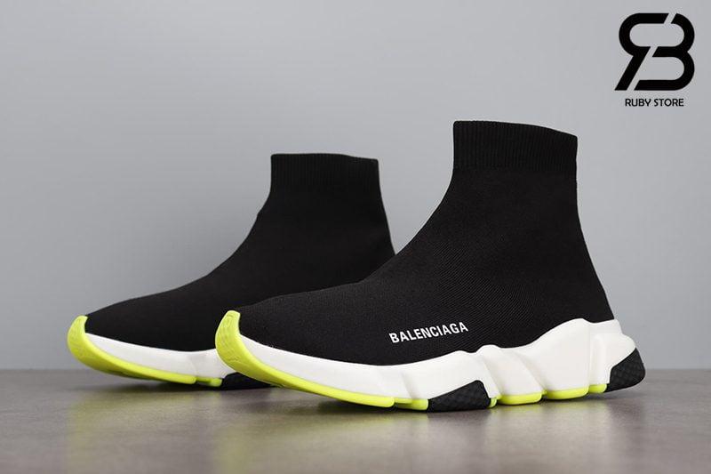 Giày Balenciaga Speed Trainer Đế Trắng Xanh Siêu Cấp