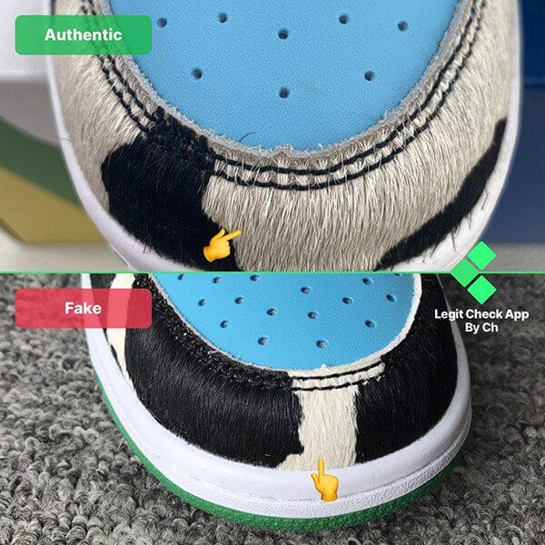 đôi giày chính hãng có chất liệu cao hơn đôi giày fake