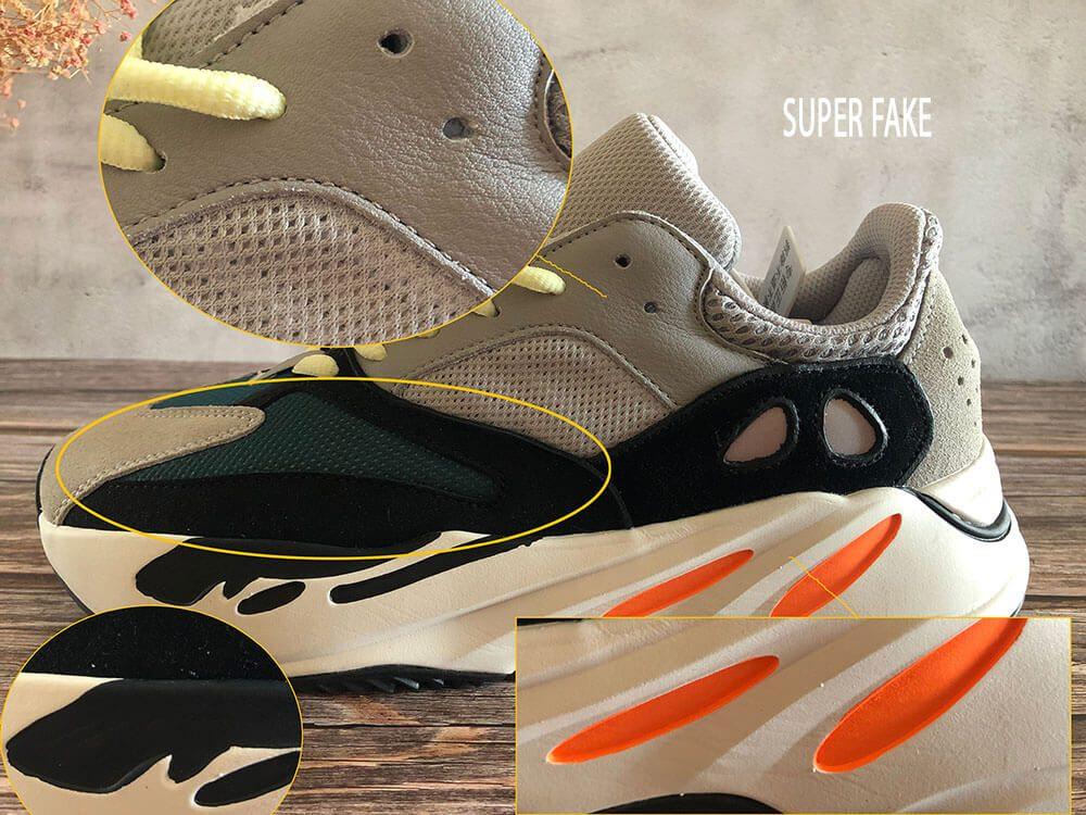Phân biệt Yz 700 Wave Runner real và fake qua tổng thể đôi giày