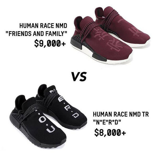 Pharrell Williams x adidas Hu NMD Friends and Family - 10.000 USD
