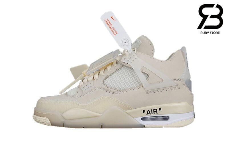 Giày Nike Air Jordan 4 Retro Off-White Sail Siêu Cấp