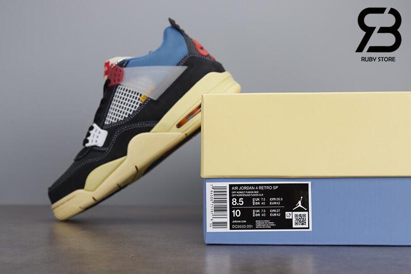 Giày Nike Air Jordan 4 Retro Union Off Noir Siêu Cấp