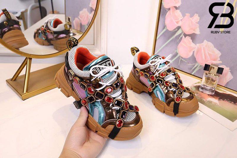 Giày Gucci Flashtrek Jewel Embellished sneaker siêu cấp
