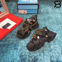 Giày Gucci Flashtrek sneakers with Crystals Black Siêu Cấp