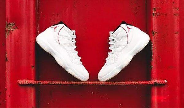 "Giày Air Jordan 11 ""Platinum Tint"