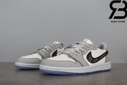 Giày Nike Air Jordan 1 x Dior Low Siêu Cấp Like Authentic 99%