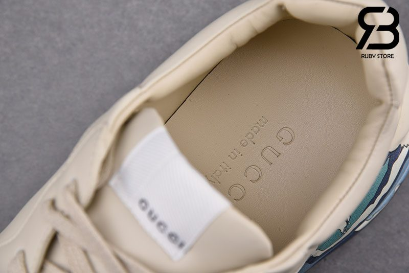 Giày Gucci Rhyton Leather Sneaker With Wave Best Quality