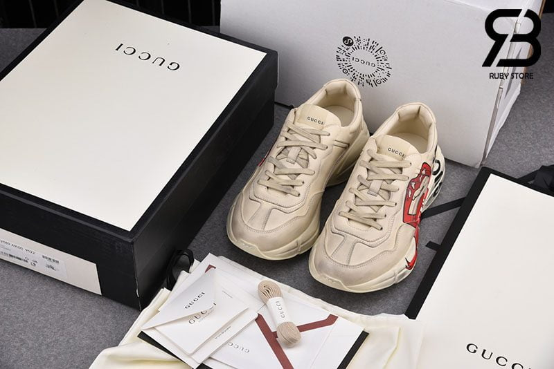 Giày Gucci Rhyton Sneaker With Mouth Print Best Quality