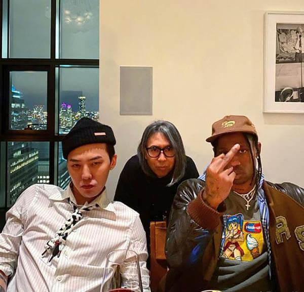 Bộ 3 Travis Scott, Hiroshi Fujiwara và G-Dragon