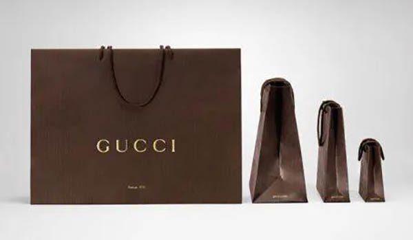 Bao bì màu nâu của Gucci trước đó