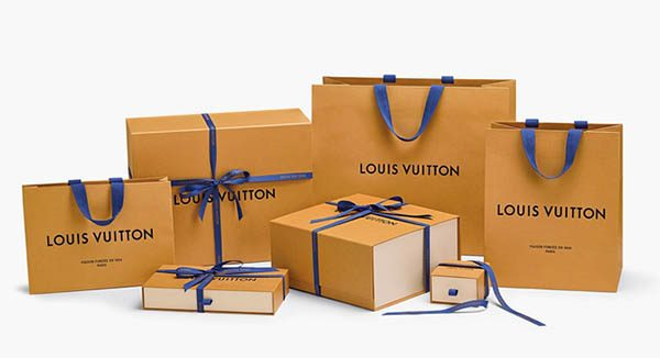 Bao bì mới của thương hiêu Louis Vuitton màu vàng nghệ