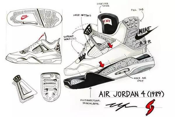 Thiết kế giày Air Jordan 4