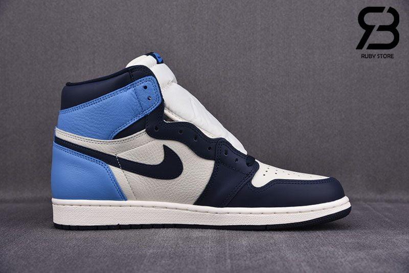 Giày Nike Air Jordan 1 Retro High Obsidian UNC Siêu Cấp