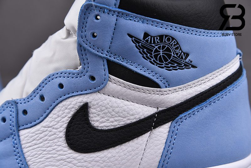Giày Nike Air Jordan 1 Retro High White University Blue Black Siêu Cấp