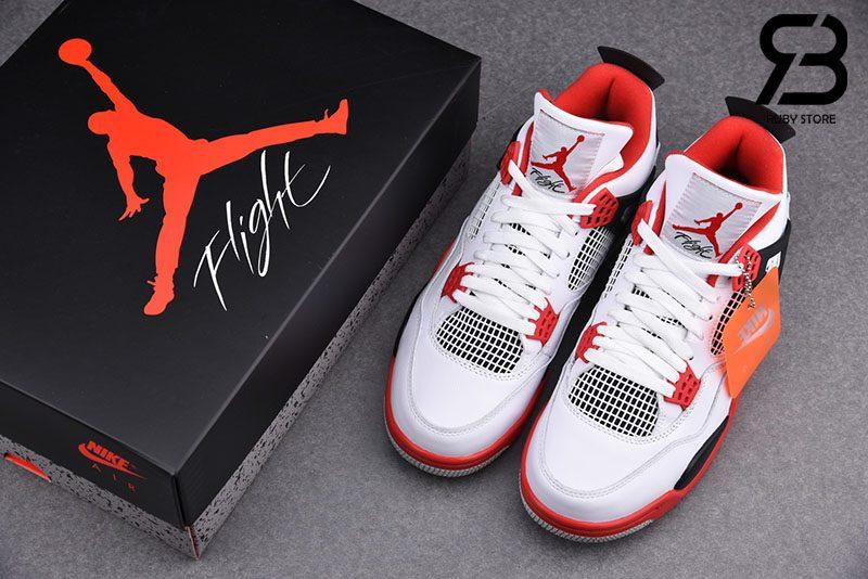 Giày Nike Air Jordan 4 Retro Fire Red (2020) Siêu Cấp