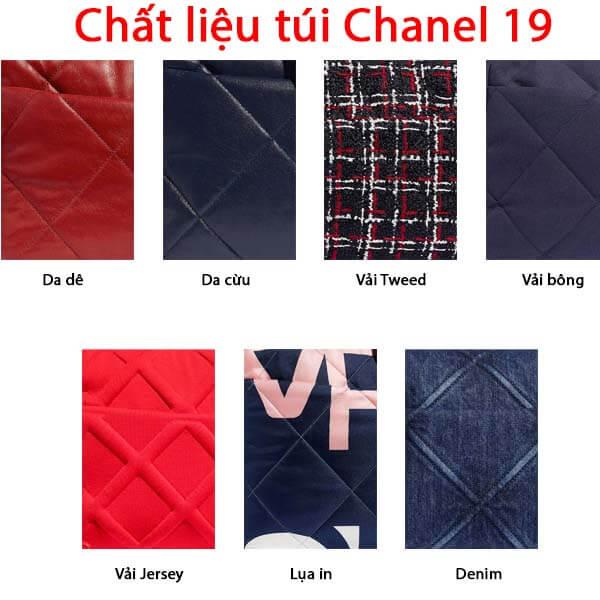 Chất liệu túi Chanel 19 làm từ da gì?