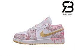 Giày Air Jordan 1 Low GS Strawberry Ice Cream Siêu Cấp