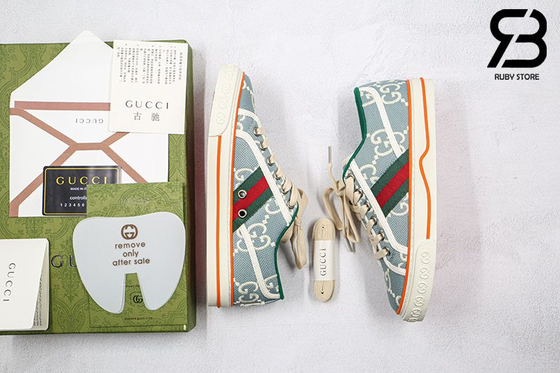 Giày Gucci Tennis 1977 Xanh Blue Best Quality Like Auth 99%