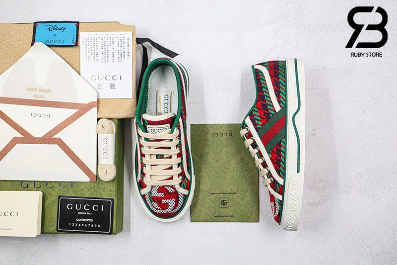 Giày Gucci Tennis 1977 Xanh Đỏ Best Quality Like Auth 99%
