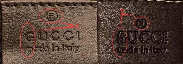 Nhãn da bên trong túi Gucci marmont