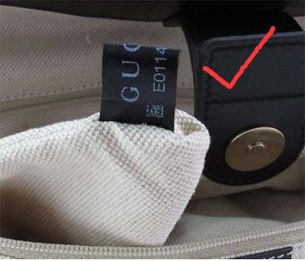 Nhãn mã vải trên Gucci