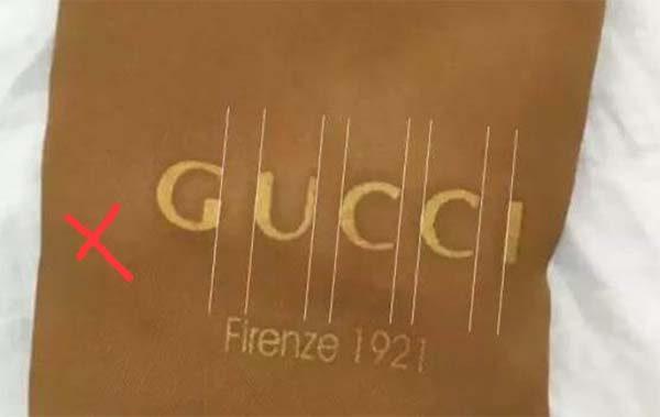 Phân biệt túi bụi (Dust Bag) trên túi Gucci giả