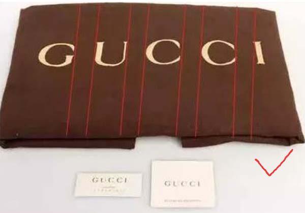 Phân biệt túi bụi (Dust Bag) trên túi Gucci real