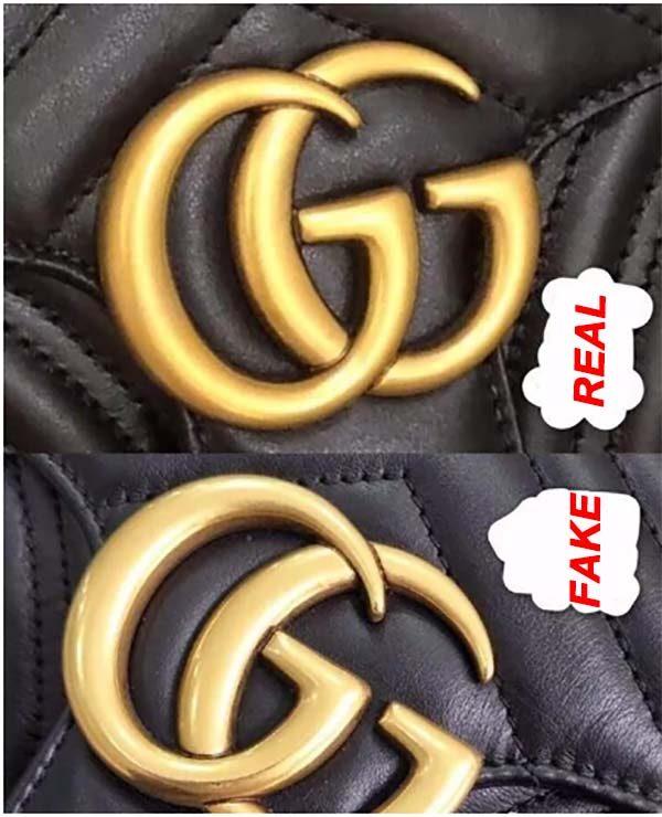 Logo G kép trên túi Gucci marmont