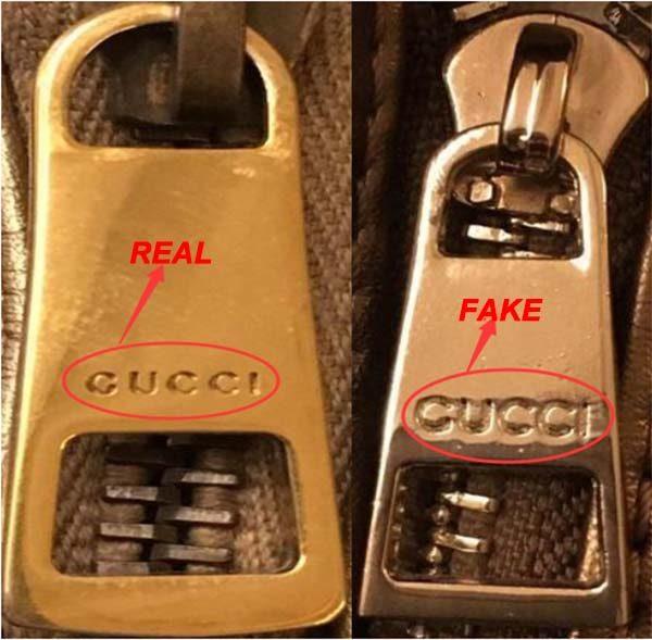 Logo Gucci trên khóa kéo