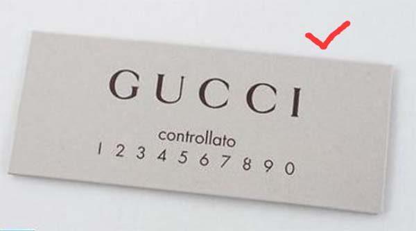 thẻ Controllato của túi Gucci