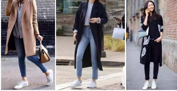 giày Alexander Mcqueen kết hợp áo khoác dài