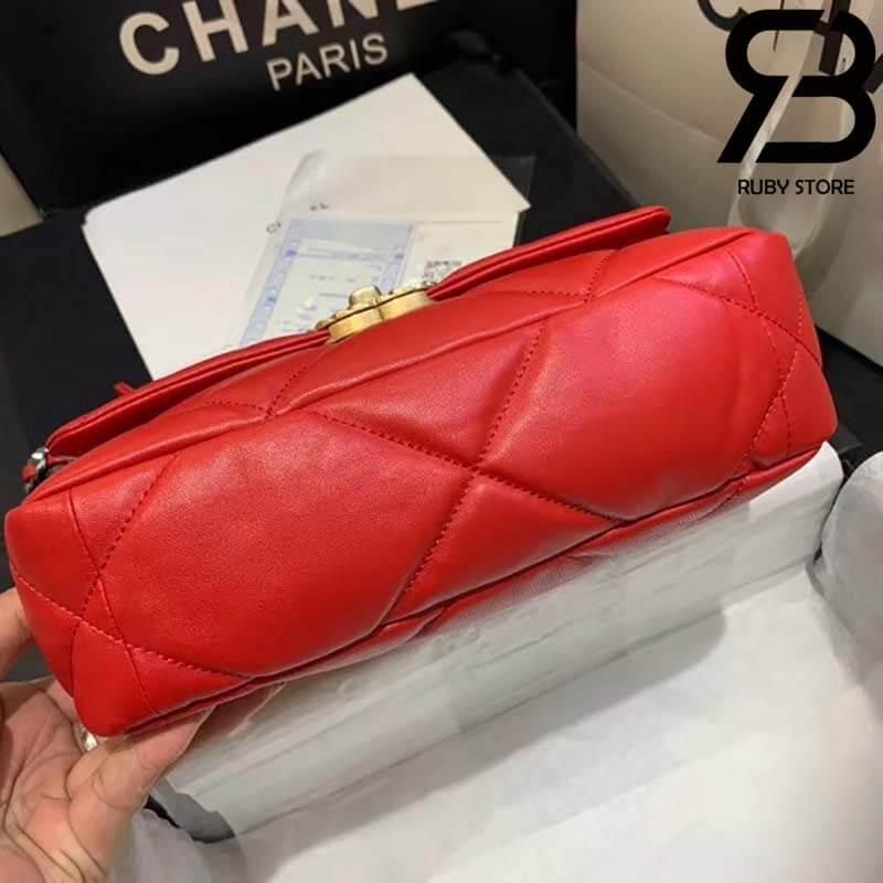 Túi Chanel 19 Da Cừu Màu Đỏ Best Quality Like Auth 99%