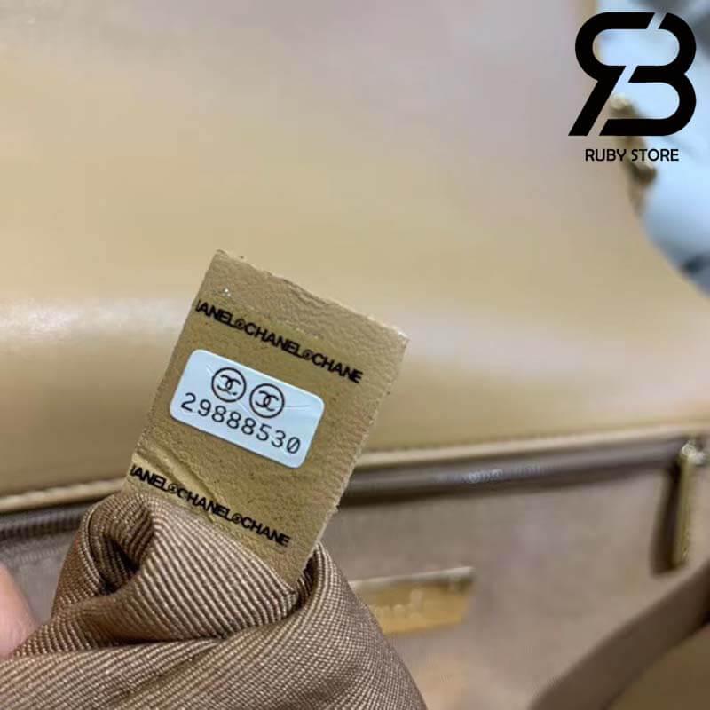 Túi Chanel 19 Da Cừu Màu Nâu Best Quality Like Auth 99%
