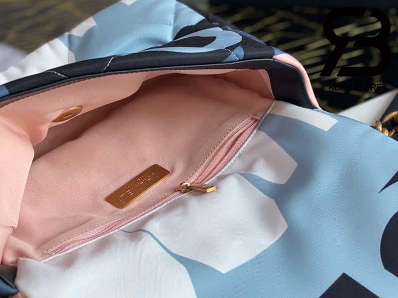 Túi Chanel 19 Vải Sợi Xanh Blue Best Quality Like Auth 99%