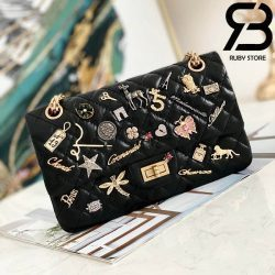 Túi Chanel 2.55 Gold Metal Charm Best Quality Like Auth 99%