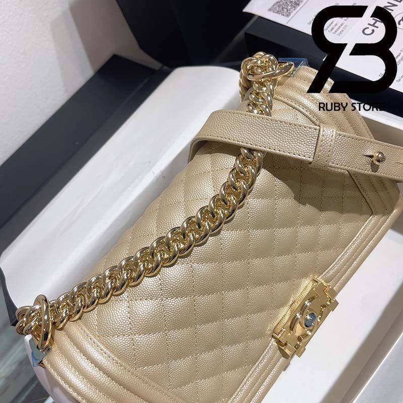 Túi Chanel Boy Beige Best Quality Like Auth 99%