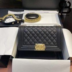 Túi Chanel Boy Màu Đen Best Quality Like Auth 99%