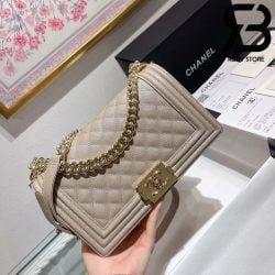 Túi Chanel Boy Khaki 25cm Best Quality Like Auth 99%