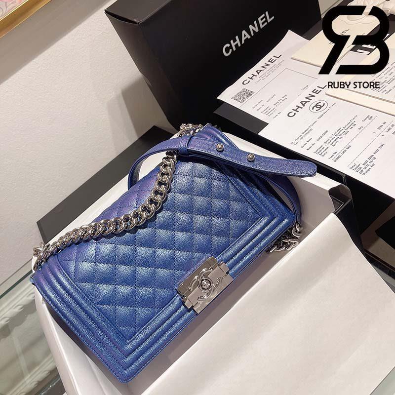 Túi Chanel Boy Xanh Navy 25cm Best Quality Like Auth 99%