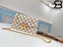Túi LV Croisette Chain Wallet Damier Azur Canvas Best Quality 99% Auth