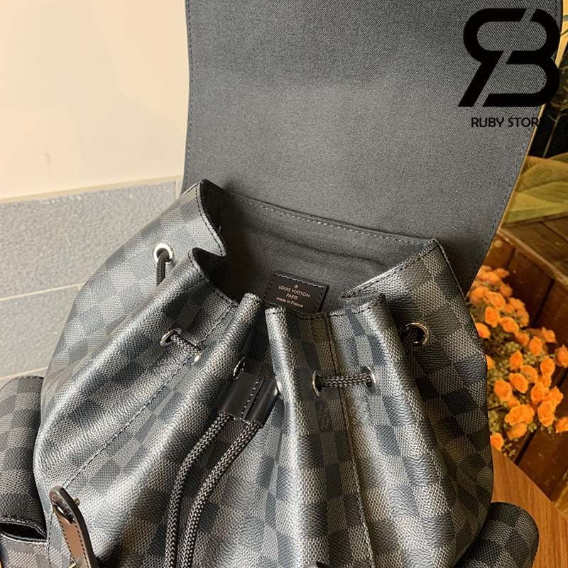 Ba Lô LV Christopher PM Damier Graphite Grey Best Quality