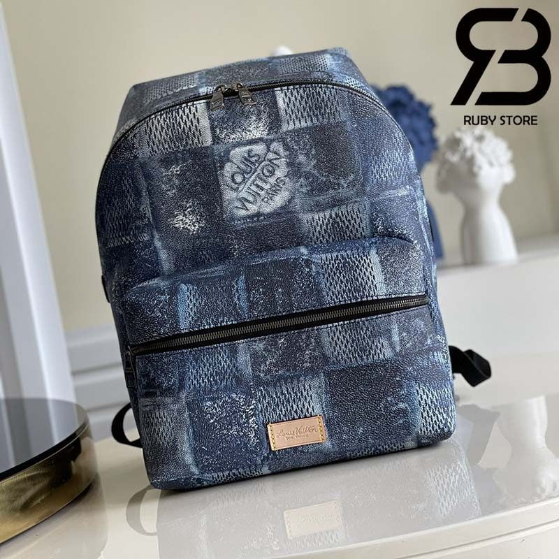 Ba Lô LV Discovery Backpack Ocean Blue Best Quality