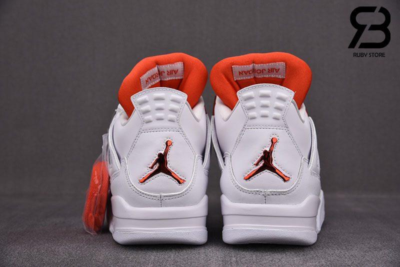 Giày Nike Air Jordan 4 Retro Metallic Orange Siêu Cấp